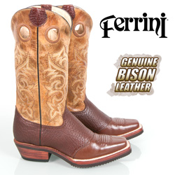 Ferrini Bison Boots - Chocolate  Model# 82871-09