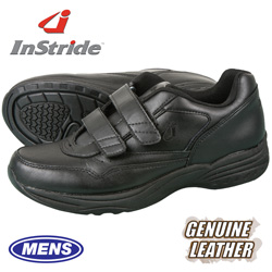 InStride Leather Strap Shoe - Black  Model# 30112