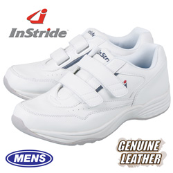InStride Leather Strap Shoe - White  Model# 30111