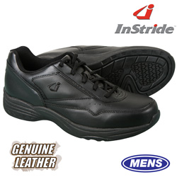 InStride Leather Lace Shoes - Black  Model# 30012