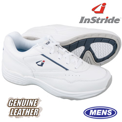 InStride Leather Lace Shoes - White  Model# 30011