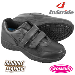 InStride Womens Leather Strap Shoes - Black  Model# 40122