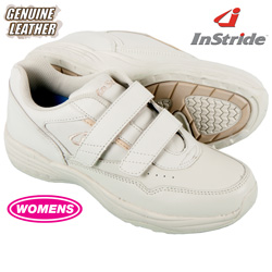 InStride Womens Leather Strap Shoes - White  Model# 40123