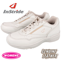 InStride Womens Leather Lace Shoes - White  Model# 40023