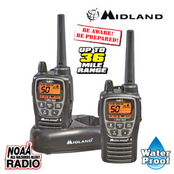 Midland 36-Mile GMRS Radios&nbsp;&nbsp;Model#&nbsp;GXT2000VP4