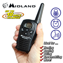 Midland 18-Mile GMRS Radio Pair&nbsp;&nbsp;Model#&nbsp;LXT114VP