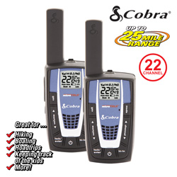Cobra 25-Mile GMRS Radio (pair)&nbsp;&nbsp;Model#&nbsp;CXR700