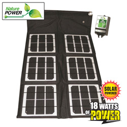 18-Watt Folding Solar Panel&nbsp;&nbsp;Model#&nbsp;55020