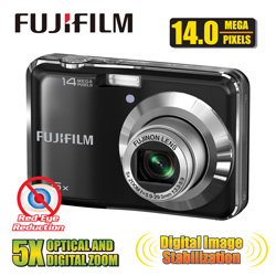 Fuji 14MP 5X Optical Digital Camera  Model# FINEPIX AX300 KIT