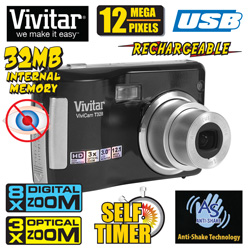 Vivitar 12MP Digital Camera&nbsp;&nbsp;Model#&nbsp;VT328