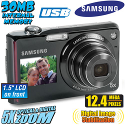 Samsung 12 Megapixel 5X Optical Zoom Digital Camera  Model# TL210ZBPRC
