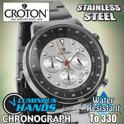 Croton SS/Silver Chronograph&nbsp;&nbsp;Model#&nbsp;CC311304SSGY