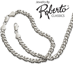 Figure-8 Sterling Silver Necklace and Bracelet  Model# 17