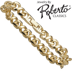 Figure-8 14k Gold Bracelet&nbsp;&nbsp;Model#&nbsp;18