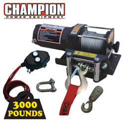 3000lb Champion Winch&nbsp;&nbsp;Model#&nbsp;C30145