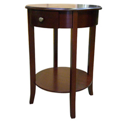 Round End Table - Cherry  Model# H-125N