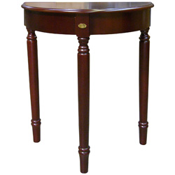 30 Inch Cherry Crescent End Table  Model# H-133