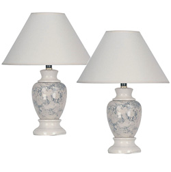Pair of Ceramic Table Lamps  Model# 609IV-2 PACK