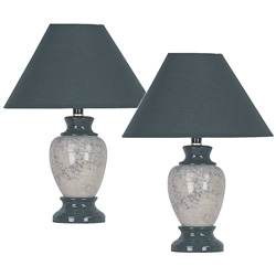 Pair of Ceramic Table Lamps  Model# 609GN-2 PACK