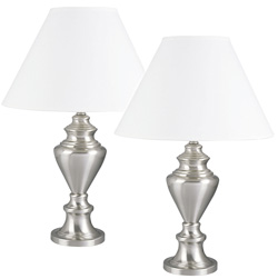 Pair of Metal Table Lamps&nbsp;&nbsp;Model#&nbsp;6236SN-2 PACK