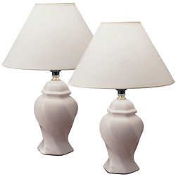 Pair of Ceramic Table Lamps  Model# 606IV-2 PACK