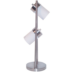 2-Light Adjustable Table Lamp - White  Model# 3031TW