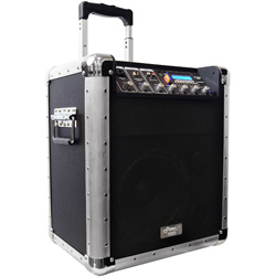 Portable PA System with Microphone and MP3 Connection  Model# PCMX260MB