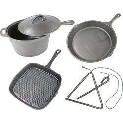 5pc Cast Iron Cookware Set&nbsp;&nbsp;Model#&nbsp;CICSET5