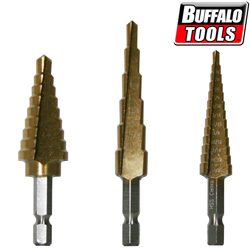 3 Piece Step Drill Bit Set  Model# DBSB3