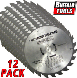 12 Pack 7.25 Inch Carbide Blade  Model# SBCT714-12