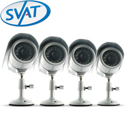 4 Pack Indoor/Outdoor Night Vision Cameras  Model# VU301-4C