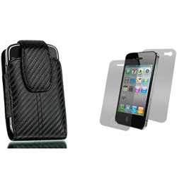 Premium Carbon Fiber Style Vertical Case  Model# IP3GS-CarbonV