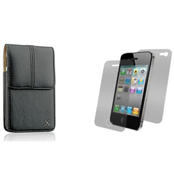 Executive Vertical Leather Belt Clip Carrying Case  Model# IP3GS-EV