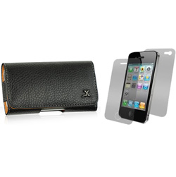 Premium Leather Horizontal Cell Phone Case  Model# IP3GS-HBRW