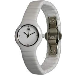Orbital Collection Ceramic Swiss Watch Reentry White - Women's  Model# CW531WL