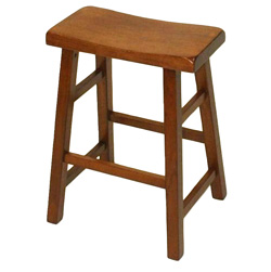 Saddle Stool - Dark Oak  Model# 00106