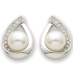 Diamond & Pearl Earrings  Model# JE566