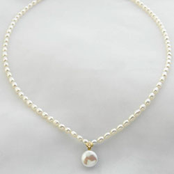 Diamond &amp; Pearl Necklace&nbsp;&nbsp;Model#&nbsp;JNRT121