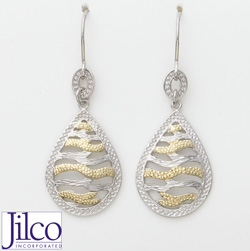 Two Tone Earrings  Model# JE152