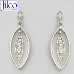 Diamond Leaf Earrings  Model# JE677