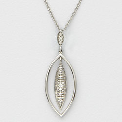 Diamond Leaf Necklace&nbsp;&nbsp;Model#&nbsp;JN677