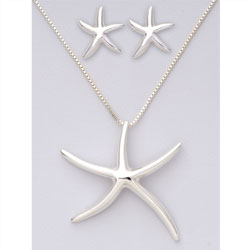 Starfish Earring &amp; Necklace Set&nbsp;&nbsp;Model#&nbsp;JS322