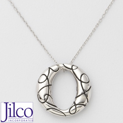 Oval Oxidized Necklace  Model# JN339