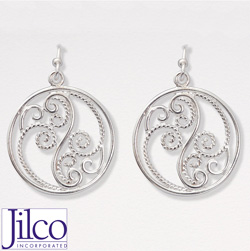 Scroll Earrings&nbsp;&nbsp;Model#&nbsp;JE328