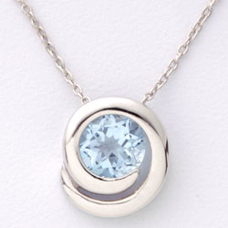 Blue Topaz Necklace  Model# JN5136
