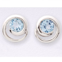 Blue Topaz Earrings  Model# JE5136