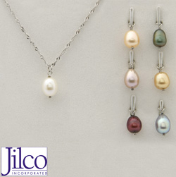 Tear Drop Pearl Necklace Set  Model# JS868