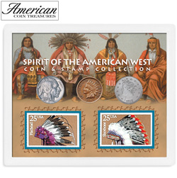 Spirit of the American West Coin &amp; Stamp Collection&nbsp;&nbsp;Model#&nbsp;112