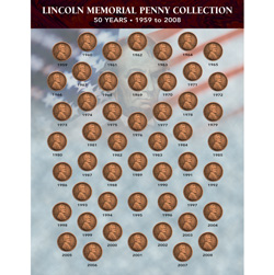 Lincoln Memorial Penny Collection 1959-2008  Model# 1729