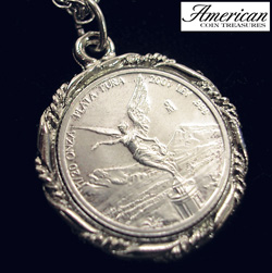 Silver Mexican Libertad Angel Pendant&nbsp;&nbsp;Model#&nbsp;5676